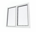 Plastic window on a white background Royalty Free Stock Photo