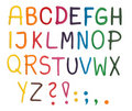 Plasticine alphabet Royalty Free Stock Photo