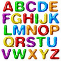 Plasticine alphabet. Stock Images