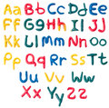 Plasticine alphabet over white header and capital Royalty Free Stock Photography