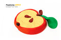 Plasticine apple slice Royalty Free Stock Photo