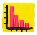 Plasticine clay loss bar graph colorful Royalty Free Stock Photo