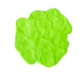 Plasticine green texture on white background Royalty Free Stock Images