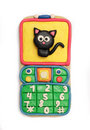 Plasticine mobile telephone Royalty Free Stock Image