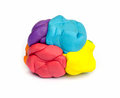 Plasticine pieces of on white background Royalty Free Stock Images