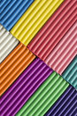 Plasticine set of multicolor as a background Stock Photo