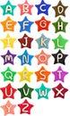 Plasticine star letter a-z Royalty Free Stock Photo