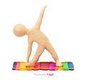 Plasticine youga man Royalty Free Stock Photo