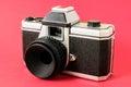 Plastik toy foto camera des klassiker mm Lizenzfreies Stockbild
