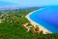 Platamon city, Greece Royalty Free Stock Photo