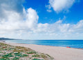 Platamona beach cloudy day Stock Images