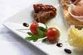 Plate of antipasti Royalty Free Stock Image
