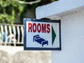 Plate with arrow to rooms rent house resort style Royalty Free Stock Photos