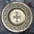 Plate with celtic cross Royalty Free Stock Photo