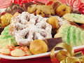 Plate of Christmas Cookies Stock Photos