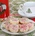 Plate of Christmas Sugar Cookies Royalty Free Stock Images