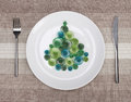Plate with christmas tree Royalty Free Stock Photos