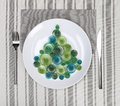 Plate with christmas tree Stock Image