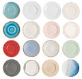 Plate collection Royalty Free Stock Photo