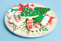Plate of Cookies Royalty Free Stock Photo