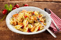 Plate of delicious pasta Royalty Free Stock Photo