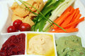 Plate of dips 2 Royalty Free Stock Photos