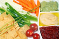 Plate of dips Royalty Free Stock Images