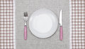 Plate with fork and knife empty Royalty Free Stock Images