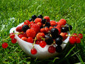 Plate with fresh fruits Royalty Free Stock Photos