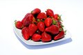 Plate of fresh strawberries. Royalty Free Stock Photos