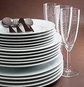 Plate,glass and cutlery Stock Image
