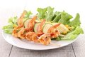 Plate of grilled shrimp Royalty Free Stock Photo