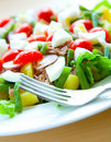 A plate of healthy tuna salad nicoise Stock Photo