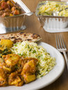 Plate Of Indian Take Away- Chicken Bhoona Royalty Free Stock Photography