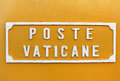 Plate with the inscription - mail Vatican Royalty Free Stock Photo