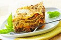 Plate of lasagna Royalty Free Stock Photo