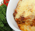 Plate of lasagne Royalty Free Stock Photography