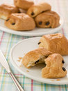 Plate of Pain au Chocolat Royalty Free Stock Photo