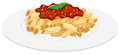 Plate of penne pasta with tomato sauce Royalty Free Stock Photo