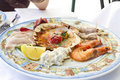 Plate with seafood Royalty Free Stock Photo