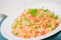 Plate of Shrimps Risotto Stock Photos