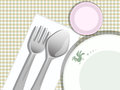 Plate spoon fork Stock Photo