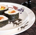 Plate of suchi Royalty Free Stock Photo