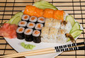 A plate with sushi Royalty Free Stock Photos