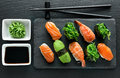Plate with sushi Royalty Free Stock Photo