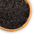 Plate with wild black rice Royalty Free Stock Images