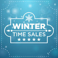 Plate with winter sale five stars cutout Stock Photos