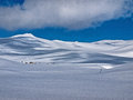 Plateau view of bucegi in winter Stock Photo