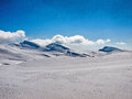 Plateau view of bucegi in winter Stock Photos