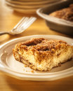 Plated Coffee Cake Royalty Free Stock Photo